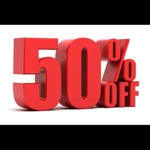 Bundle any 2 items and save 50% off!!